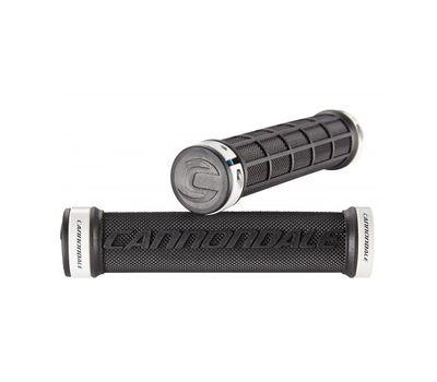 Грипсы Cannondale DC Dual Lock-On черные с белым (GRI-35-03), фото 1
