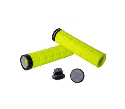 Грипсы Green Cycle GC-G219 130mm вспененная резина, с одним замком желтые (GRI-65-07), фото 1