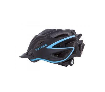 Шлем Green Cycle New Rock черно-голубой матовый, фото 2