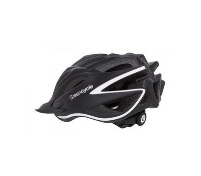 Шлем Green Cycle New Rock черно-белый матовый, фото 2