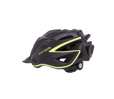 Шлем Green Cycle New Rock черно-желтый матовый, фото 2