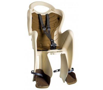Сиденье заднее Bellelli Mr Fox Clamp (на багажник) до 22кг бежевое с коричневой подкладкой (SAD-20-11), фото 1
