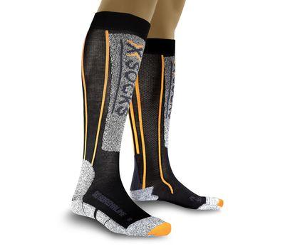 Термоноски X-Socks Ski Adrenalin Sinofit X39 Black/Orange (X20023), фото 1