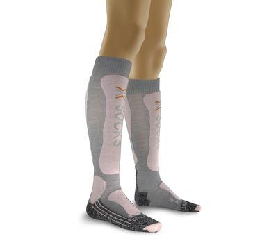 Термоноски X-Socks Skiing Lady Comfort Supersoft G258 (XE6) Pearl Grey / Pink (X20274), фото 1