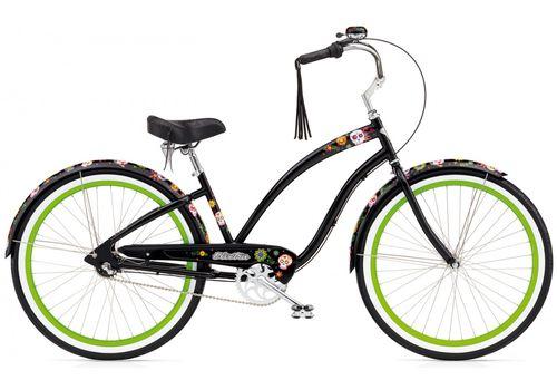 "Велосипед 26"" Electra Sugar Skulls 3i (Alloy) Ladies' Black (BIC-18-85), фото 1"
