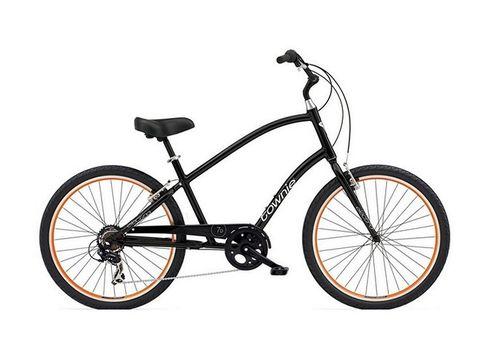 "Велосипед 26"" Electra Townie Original 7D Men's Black w/orange rims (BIC-17-13), фото 1"