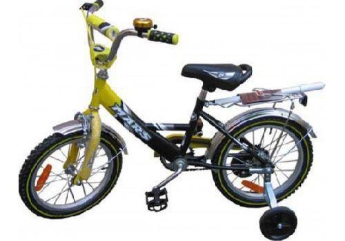 """Велосипед Марс 14"""" ручной тормоз+эксцентрик (желтый/черный), фото 1"""