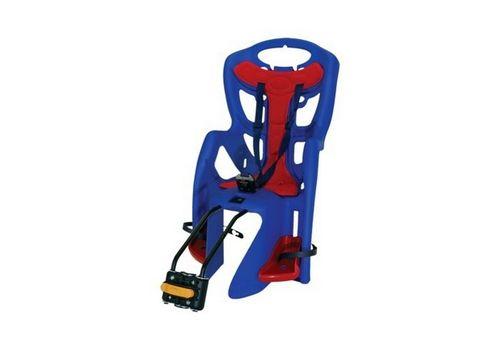 Сиденье заднее Bellelli Little Duck Clamp детское до 22кг (синий с красным) крепится на багажник, фото 1