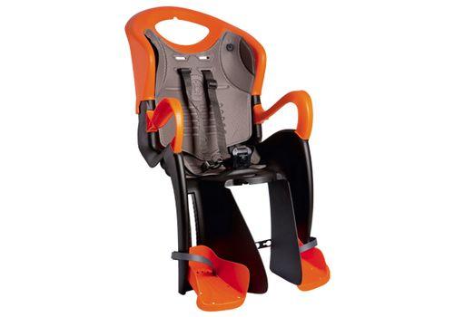 Сиденье заднее Bellelli Tiger Clamp (на багажник) черно-оранжевое с оранжевой подкладкой (SAD-25-71), фото 1