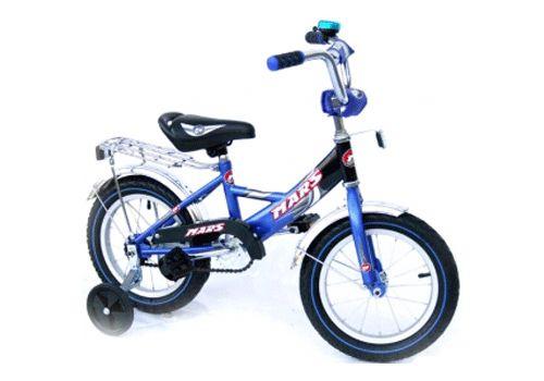 """Велосипед Марс 14"""" ручной тормоз+эксцентрик (синий/черный), фото 1"""