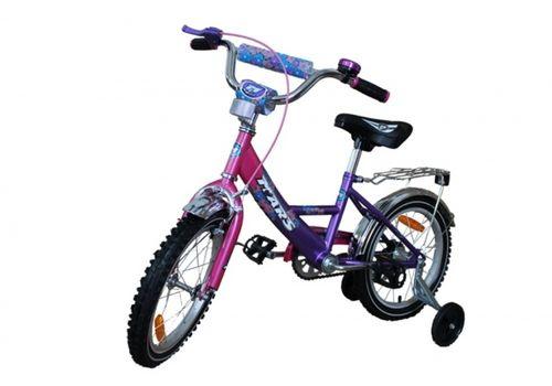 """Велосипед Марс 16"""" ручной тормоз+эксцентрик (розовый/фиолетовый), фото 1"""