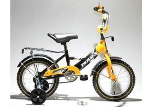"""Велосипед Марс 16"""" ручной тормоз+эксцентрик (желтый/черный), фото 1"""