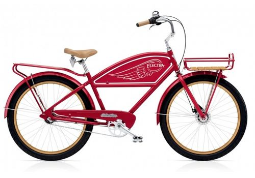 """Велосипед 26"""" Electra Delivery 3i Men's red, фото 1"""