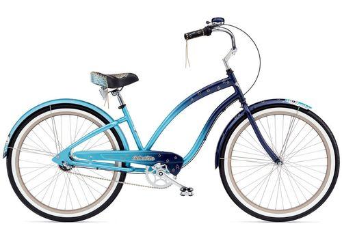 "Велосипед 26"" Electra Night Owl 3i Ladies' Blue fade (BIC-18-81), фото 1"
