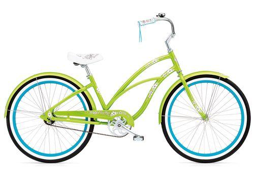 "Велосипед 26"" Electra Hawaii Custom 3i (Alloy) Ladies' Lime metallic (BIC-18-87), фото 1"