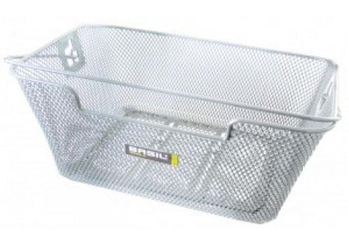 Корзина задн. Basil CAPRI стальная сетка, с ручкой, для установки на багажник, серебрист., фото 1