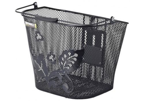 Корзина Basil BASIMPLY EC стальная сетка на руль, ручка, крепл. BasEasy-system 70123 в компл, черная, фото 1
