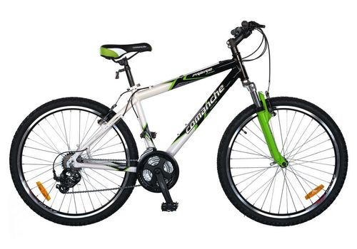 Велосипед Comanche Prairie Comp Черный-белый-зеленый, фото 1