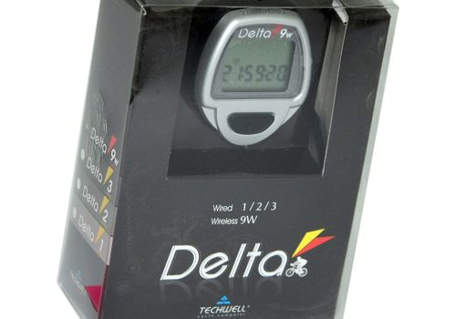 Велокомпьютер TECHWELL Delta-9W серебр. 9F б/пров., фото 1