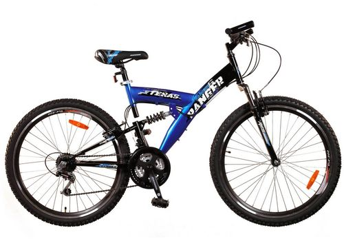 Велосипед Ranger Texas Ds Черный-синий, фото 1