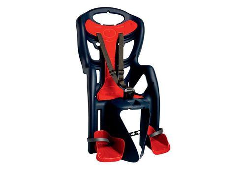 Сиденье заднее Bellelli Pepe Clamp детскоедо 22кг (синий с красным) крепится на багажник, фото 1