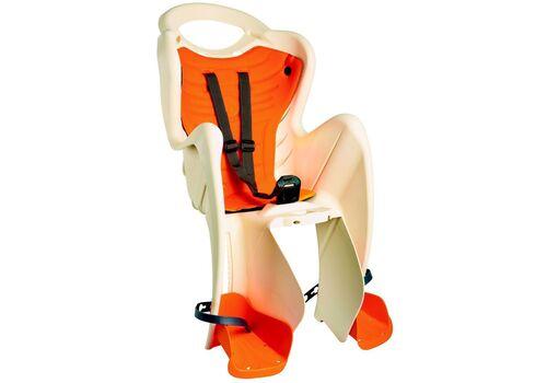 Сиденье заднее Bellelli MR FOX Clamp детское до 22кг (бежевый с оранж) крепится на багажник, фото 1