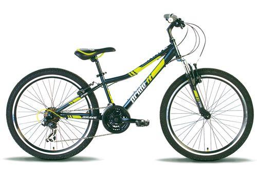 """Велосипед 24"""" Pride Brave 2014 черно-зеленый матовый, фото 1"""