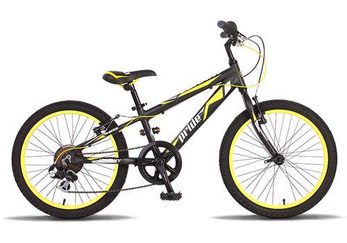 """Велосипед 20"""" Pride Johnny 2014 черно-желтый матовый, фото 1"""
