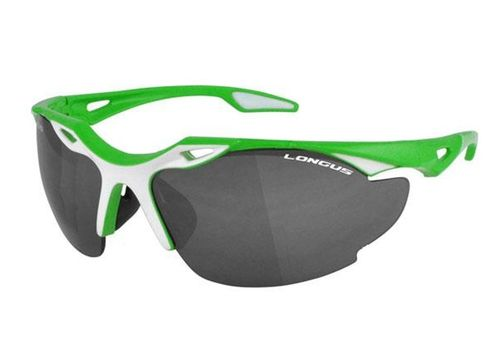 Очки Longus Blade оправа зелен-белая /Линзы дымчатые+прозрачн, фото 1
