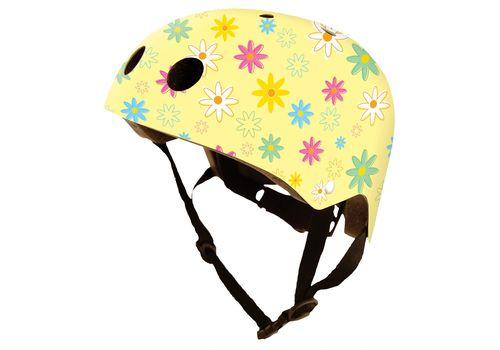 Шлем детский Kiddimoto жёлтый с цветами, фото 1