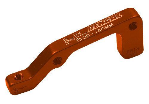 Адаптер Bengal торм. калипера задний 180mm IS оранжевый (ADP-02-14), фото 1