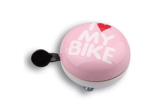 Динг-Донг Green Cycle GCB-1058S I love my bike диаметр 80мм розовый (BEL-79-70), фото 1