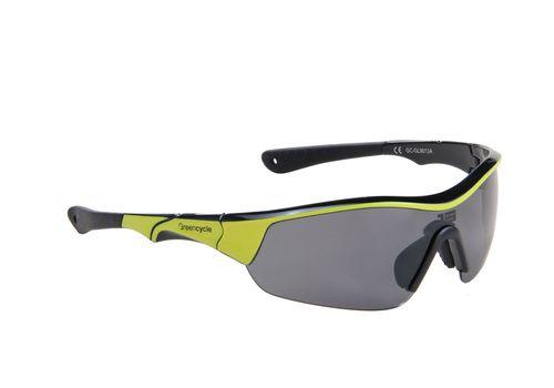 Очки Green Cycle GC-GL9013 с тремя сменными линзами+футляр+чехол, черно-желтый (GLA-65-63), фото 1