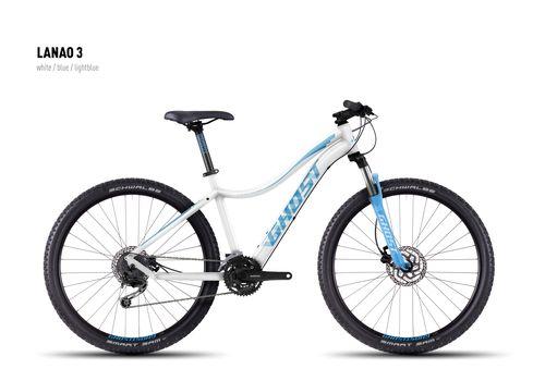 Велосипед Ghost Lanao 3 white/blue/lightblue 2016, фото 1