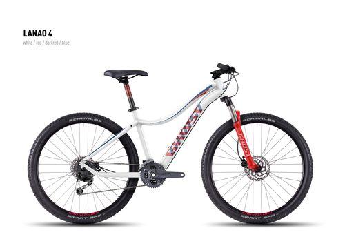 Велосипед Ghost Lanao 4 white/red/darkred/blue 2016, фото 1