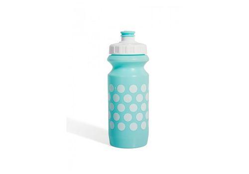 Фляга 600ml Green Cycle Polka Dot с Big Flow valve, LDPE light blue nipple/white matt cap/ light blue matt bottle (BOT-88-36), фото 1