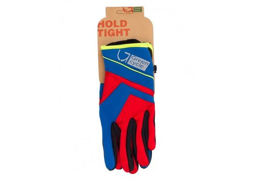 Перчатки Green Cycle NC-2576-2015 WindStop с закрытыми пальцами красно-синие, фото 1