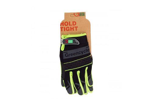 Перчатки Green Cycle NC-2373-2014 MTB с закрытыми пальцами черно-зеленые, фото 1