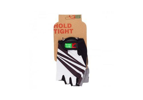 Перчатки Green Cycle NC-2537-2015 Light без пальцев бело-черные, фото 1