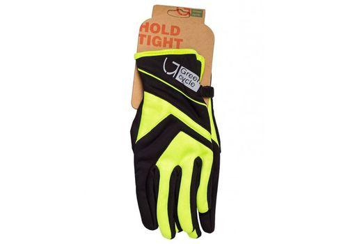Перчатки Green Cycle NC-2576-2015 WindStop с закрытыми пальцами черно-зеленые, фото 1