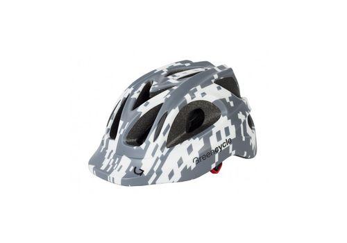 Шлем Green Cycle Space Invader серо-белый, фото 1
