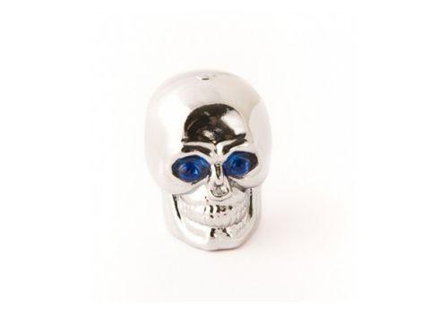Колпачок для камеры TW V-20 в виде черепа из пластика, серебр. цвета (в комплекте 4шт) Автомобильного стандарта (CTU-83), фото 1