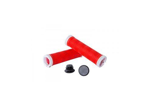 Грипсы Green Cycle GC-G240 130mm вспененная резина, с двумя замками красный/белый (GRI-24-83), фото 1
