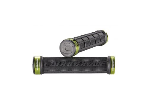 Грипсы Cannondale DC Dual Lock-On черные с зеленым (GRI-99-26), фото 1