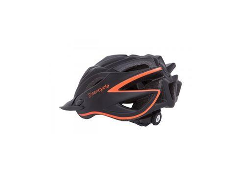 Шлем Green Cycle New Rock черно-оранжевый матовый, фото 2