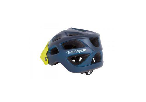 Шлем Green Cycle Slash синий-голубой-желтый матовый, фото 2
