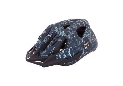 Шлем детский Green Cycle Fast Five темно-синий, фото 2