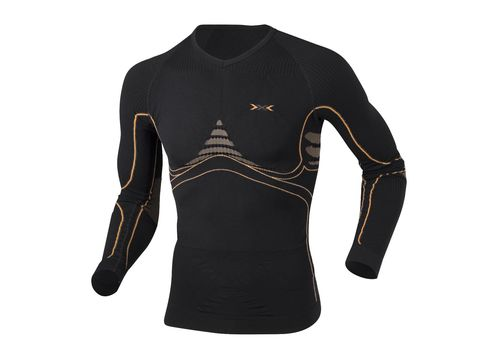 Термофутболка X-Bionic Energy Accumulator Man Shirt Long Sleeves B078 Black / Orange (I020093), фото 1