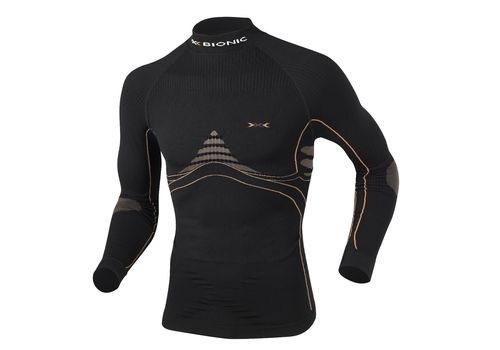 Мужская термофутболка X-Bionic Energy Accumulator Man Shirt Long Sleeves Turtle Neck B078 (X39) Black / Orange (I20096), фото 1